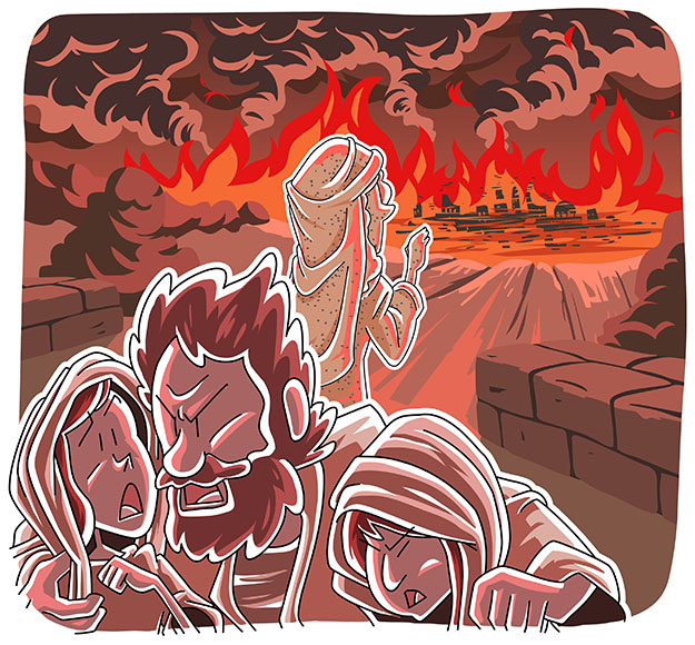Christian clipArts.net _ Sodom and Gomorrah Destroyed