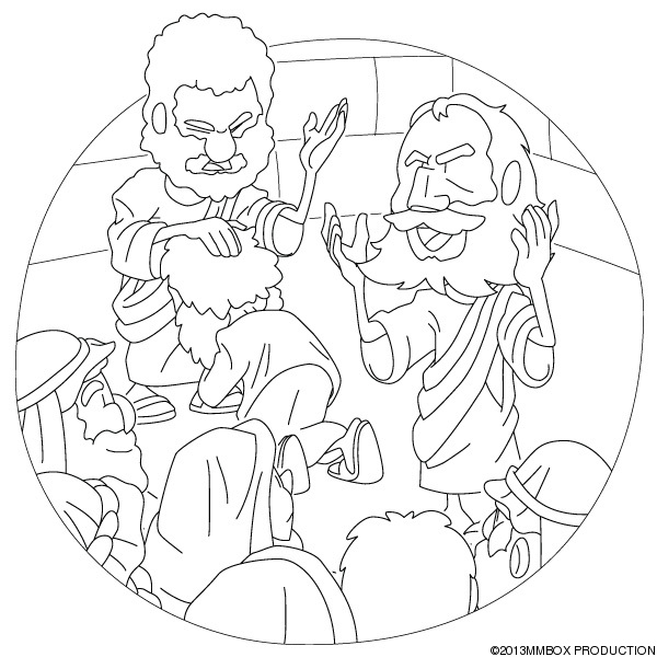 barnabas coloring page - barnabas and paul coloring pages