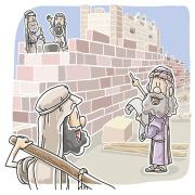 Nehemiah rebuilt the Jerusalem's Walls